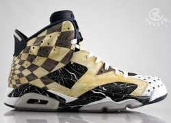 "Air Jordan VI (6) ""Marble Floors"" Customs by Revive Customs"