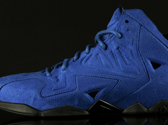 Nike LeBron 11 EXT Blue Suede Another Look