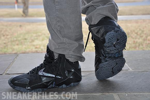 Nike LeBron 11 Stealth On-Foot Look