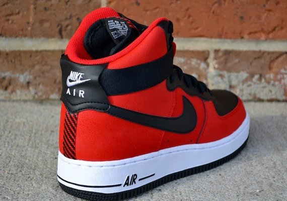 nike air force 1 high university red/black/university