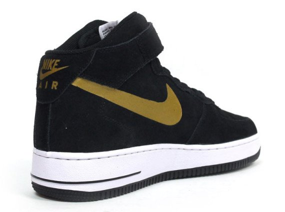 Nike Air Force 1 Mid White Black Yellow