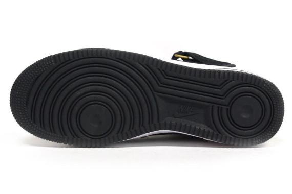 Nike Air Force 1 Mid Black Metallic Gold White