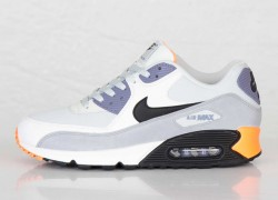 Nike Air Max 90 Essential 'Light Base Grey/Black-Iron Purple-Atomic Orange'