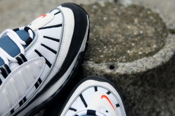 Nike Air Max 98 White Total Orange Metallic Silver Now Available