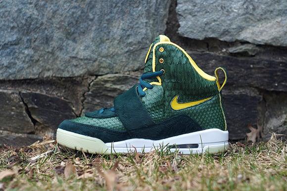 Nike Air Yeezy Oregon Ducks Custom by JBF Customs