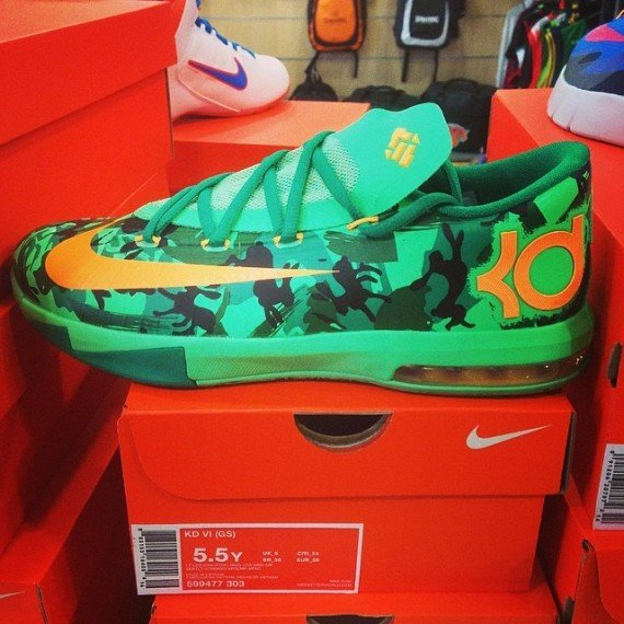 Nike KD 6 GS Green Camo First Look