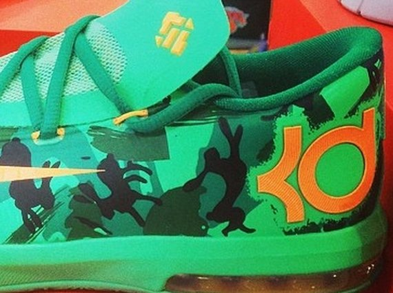 Nike KD 6 GS Green Camo First Look