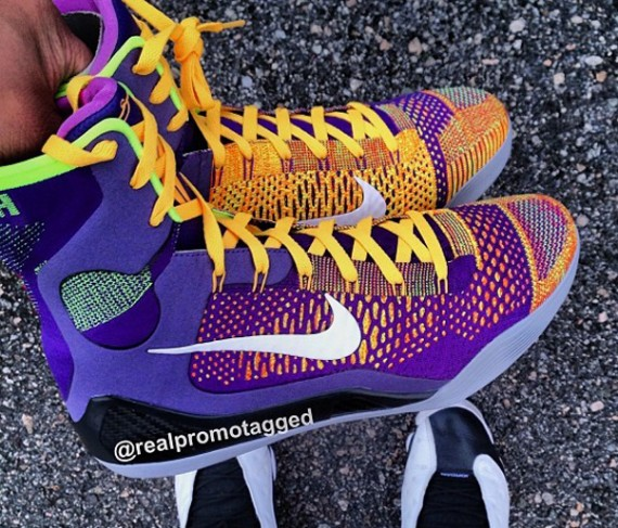 ... nike kobe 9 elite court purple white laser orange wolf grey