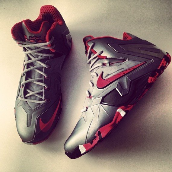 purchase cheap aea07 8ef95 Nike LeBron 11 Elite Wolf Grey Laser Crimson Another Quick Look