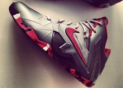 "Nike LeBron 11 Elite ""Wolf Grey/Laser Crimson"" – Another Quick Look"
