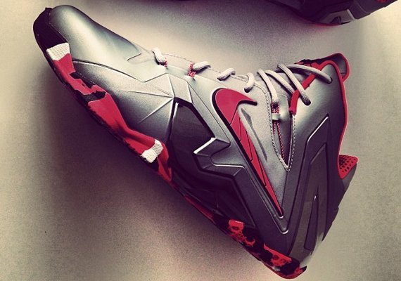 purchase cheap 23a6c 8e8e3 Nike LeBron 11 Elite Wolf Grey Laser Crimson Another Quick Look