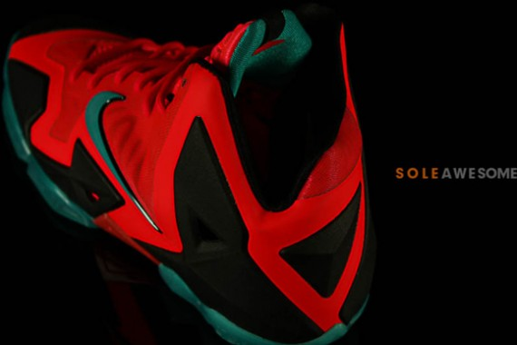 Nike LeBron 11 GS Solar Red