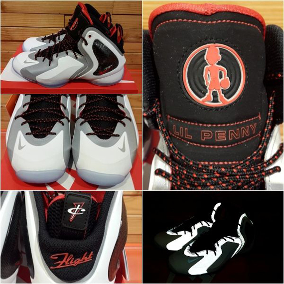 Nike Lil' Penny Posite White Grey Black Red