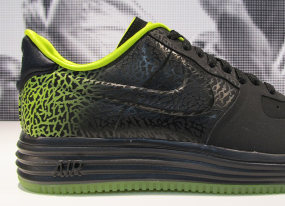 Nike Lunar Force 1 Elephant Print Fade Black Green First Look