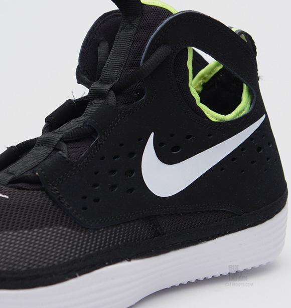 Nike Solarsoft Costa High Black White