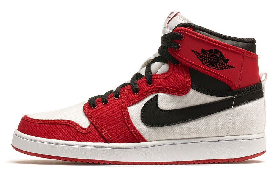 Release Reminder  Air Jordan 1 Retro KO High  White Black-Gym Red ... 36739d347