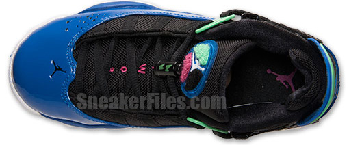 Release Reminder: Jordan 6 Rings GS Black/White-Game Royal-Light Lucid Green