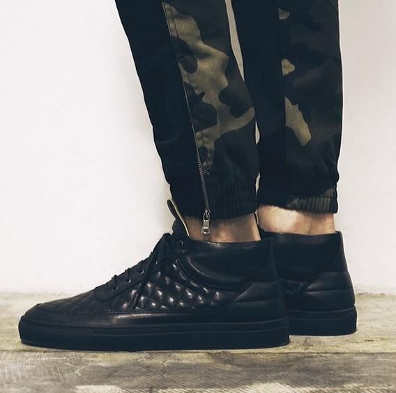 Quilted Black Shoe
