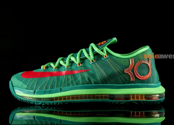 low priced 631f1 3045f Nike KD 6 Elite Turbo Green Closer Look