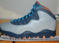 "Air Jordan 10  ""Bobcats"" Unreleased Leather Sample"