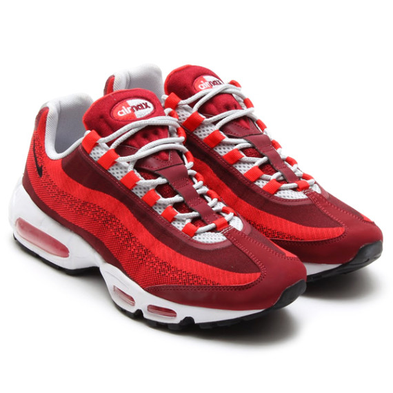 air max 95 red and white