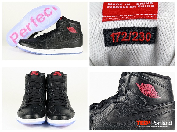 TEDxPortland Air Jordan 1 PERFECT Men and Womens Charity Auction