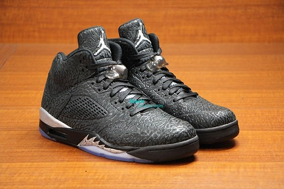 Air Jordan 5 Retro 3Lab5 Black Metallic Silver