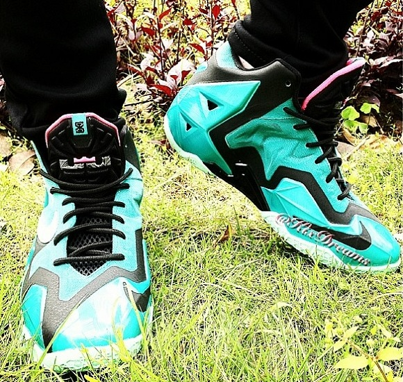 Nike LeBron 11 GS South Beach (On Feet Photos)