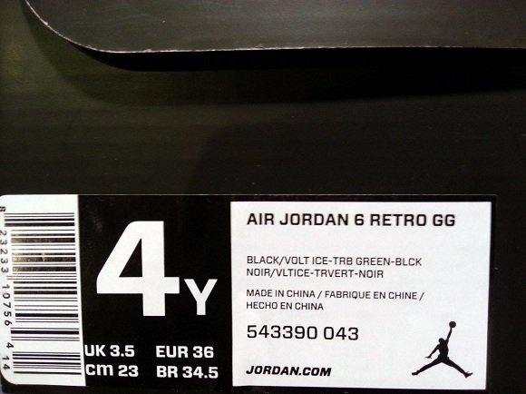 Air Jordan 6 Retro GS Turbo Green - Release Date