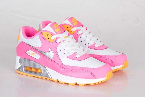 Nike Air Max 90 GS - Pink Glow/Metallic Silver