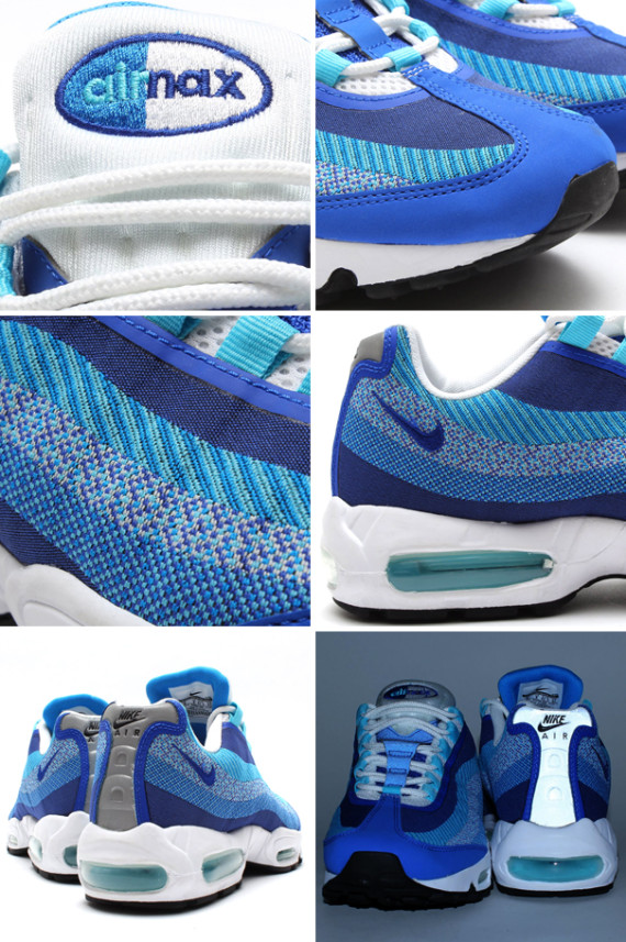 Nike Air Max 95 Jacquard – Photo Blue and University Red