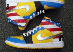 "Air Jordan 1 ""Boston Strong"" Customs by Sab One"