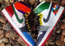 "Air Jordan 1 ""What The 1's"" Customs by Boog Customs"