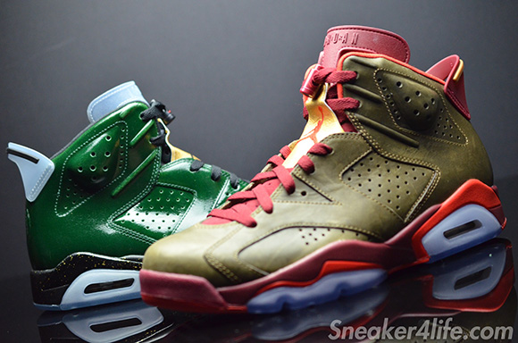 Air Jordan 6 Cigars Champagne Pack Detailed Look