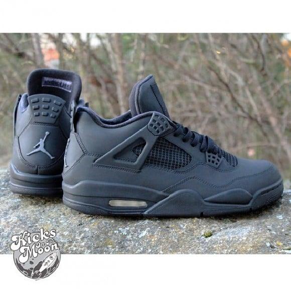 quality design 4d17d 460cb air-jordan-iv-4-matte-black-customs-kicks-
