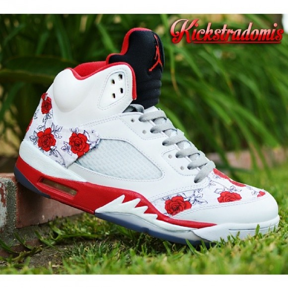 air-jordan-v-5-bed-of-roses-customs-by-kickstradomis