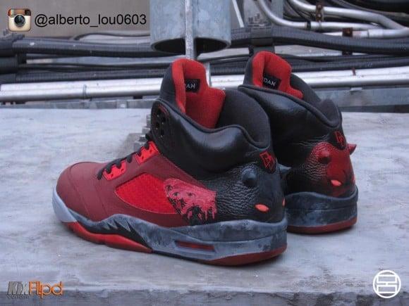 Air Jordan V 5 Quot Daredevil Quot Customs By Alberto Lou