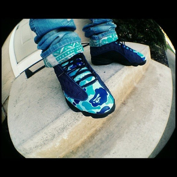 air-jordan-xiii-13-bape-blue-camo-customs-evil-genius