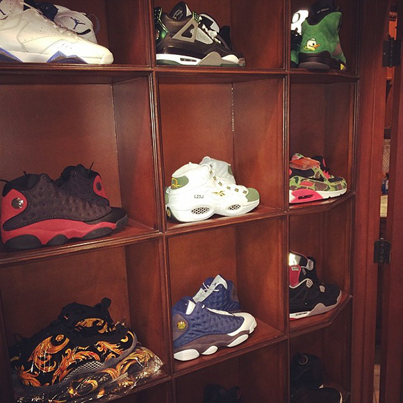 Drake Shows us Some of his Sneaker Rotation
