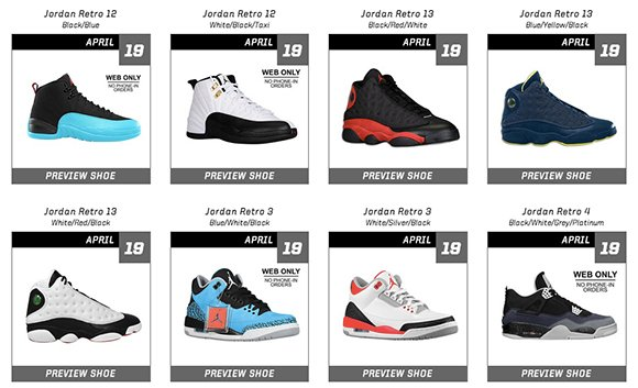 WOW: Eastbay will Restock Large Amount of Air Jordans