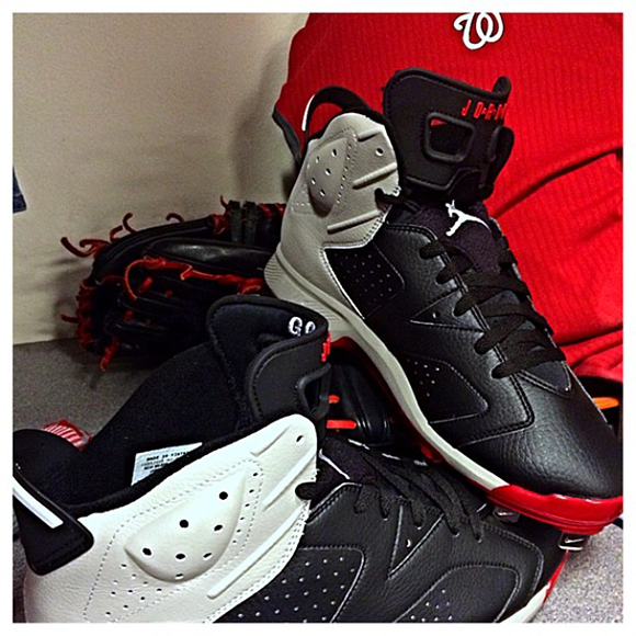 Gio Gonzalez Shows Two Pairs of Air Jordan 6 PE Cleats