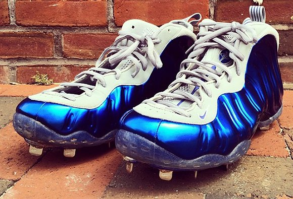Jeremy Guthrie Shows His Nike Foamposite One Custom Cleats
