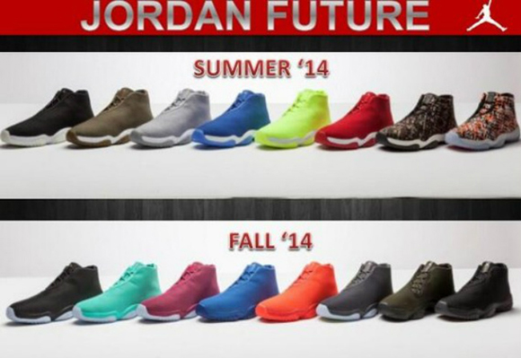 Jordan Future Summer & Fall 2014 Releases