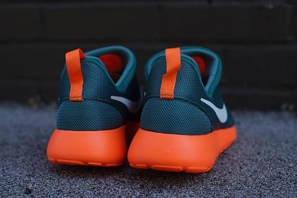 ca94d8f2bfd82 Miami Dolphins Nike Roshe Run Slip-On
