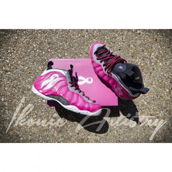 newest 35374 26b97 nike-air-foamposite-breast-cancer-customs-by-ikonic-