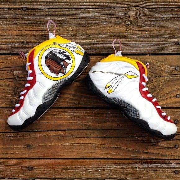 """Nike Air Foamposites """"Redskins"""" Customs by Kreative Custom Kicks ..."""