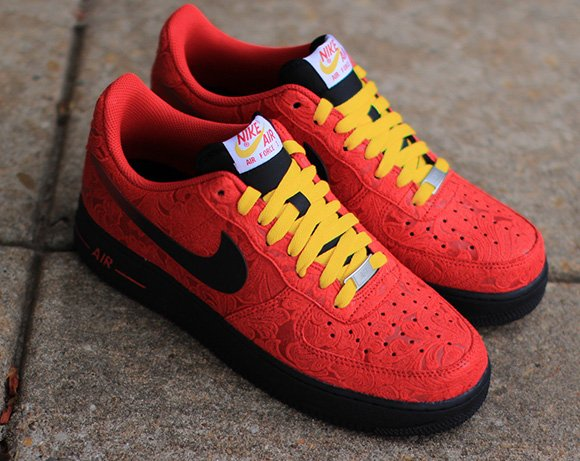 Nike Air Force 1 Low University Red Paisley
