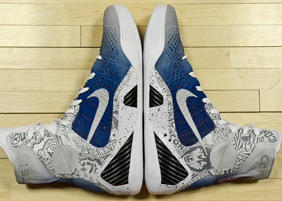 Nike Kobe 9 Elite UCONN Custom by Mache for Geno Auriemma