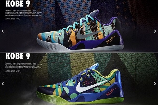 Nike Kobe 9 EM Low – New Colorways