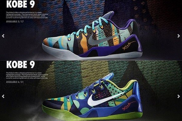 nike kobe 9 low colorways